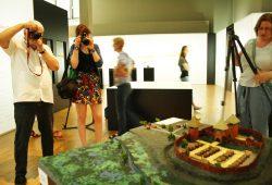 """Neue Attraktion in der Ausstellung """"1015. Leipzig von Anfang an"""": Modell der """"urbs libzi"""" um 1015. Foto: Ralf Julke"""