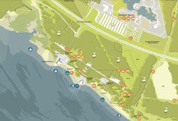 Ausschnitt aus dem Masterplan für die Entwicklung des Nordufers des Zwenkauer Sees, Karte: ZV Neue Harth