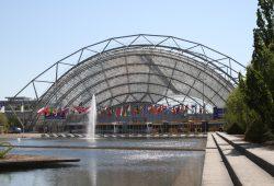 Glashalle auf dem Messegelände im Leipziger Norden. Foto: Ralf Julke