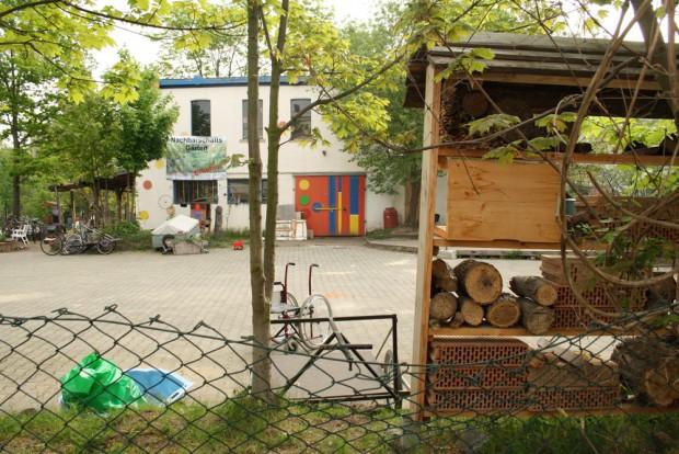 Das Radhaus in den Nachbarschaftsgärten. Foto: Ralf Julke