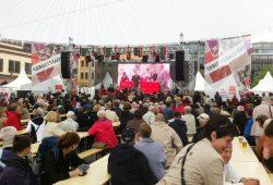 Die SPD feiert 2013 ihren 150. Geburtstag auf dem Leipziger Markt. Foto: Michael Freitag