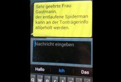 Die erlösende SMS. Foto: Ulrike Gastmann