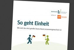"Die Studie ""So geht Einheit"". Cover: Berlin-Institut"