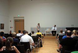 Zeitzeugengespräch mit Rabbiner Zsolt Balla in der Stadtbibliothek. Foto: Alexander Böhm