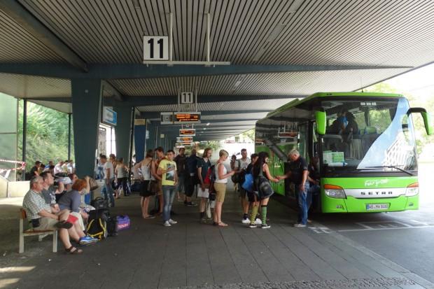 Der Zentrale Omnibusbahnhof (ZOB) in Berlin am Funkturm. Foto: Patrick Kulow