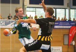 Aivis Jurdzs (li.) überzeugte beim DHfK-Sieg mit sieben Treffern. Foto: Jan Kaefer