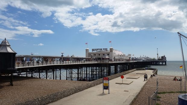 Hierhin soll es gehen: Der Brighton-Pier. Foto: Marko Hofmann