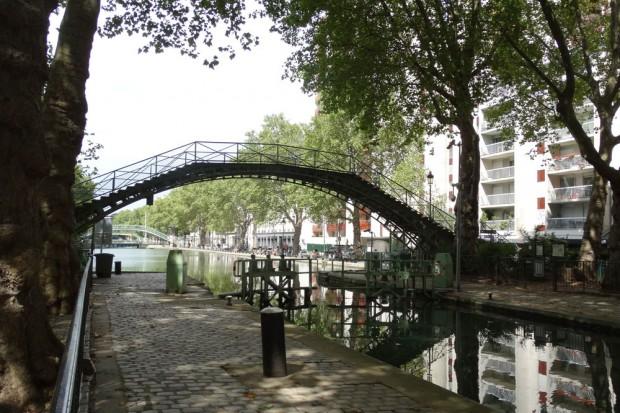 Der Kanal Saint-Martin im 10. Arrondissement. Foto: Patrick Kulow