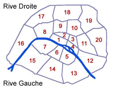 Die Anordnung der 20 Pariser Arrondissements. Grafik: Patrick Kulow