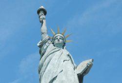 Die Freiheitsstatue von Paris auf der Ile aux Cygnes. Foto: Patrick Kulow