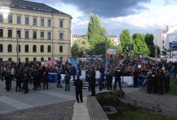 Die AfD am 9. Mai 2015 in Leipzig auf dem Simsonplatz. Foto: René Loch