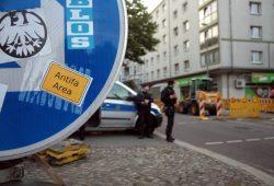 """Connewitz als """"Antifa Area"""". Foto: Alexander Böhm"""