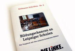 """Die Broschüre """"Bildungschancen in Leipziger Schulen"""". Foto: Ralf Julke"""