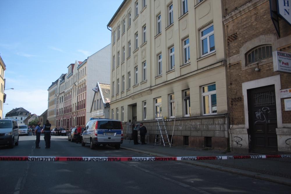 Der Tatort in Stötteritz. Foto: Alexander Böhm