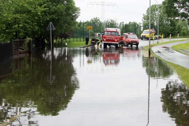 Juni-Hochwasser 2013 in Groitzsch. Foto: Matthias Weidemann