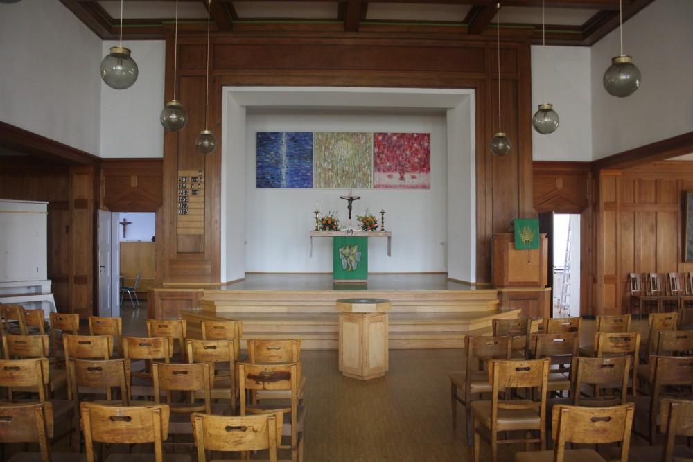 Gemeindesaal der Bethlehemsgemeinde. Foto: Ernst-Ulrich Kneitschel