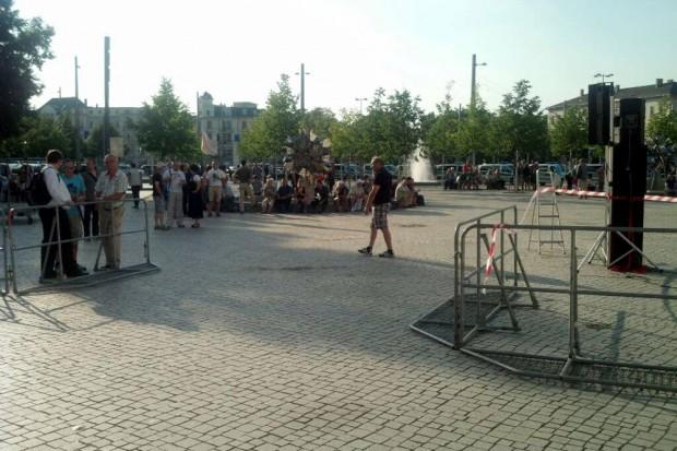 18:40 Uhr auf dem Wagnerplatz. Foto: L-IZ