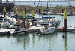 Die Marina im Zwenkauer Hafen. Foto: Matthias Weidemann