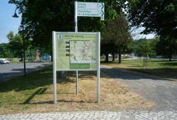 Informationstafel am Mulderadweg in Grimma. Foto: Leipzig Tourismus und Marketing GmbH