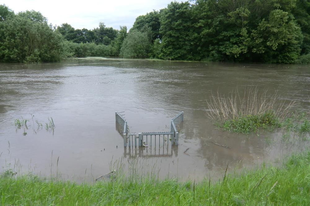Das Juni-Hochwasser 2013 an der Nahle. Foto: Marko Hofmann