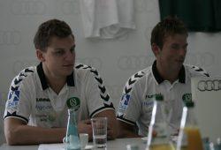Christoph Steinert und Trainer Christian Prokop wollen auch am Sonntag ein Spiel Foto: Sebastian Beyer