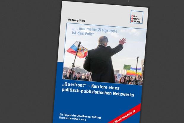 Wolfgang Storz: Querfront. Karriere eines politisch-publizistischen Netzwerkes. Cover: Otto-Brenner-Stiftung