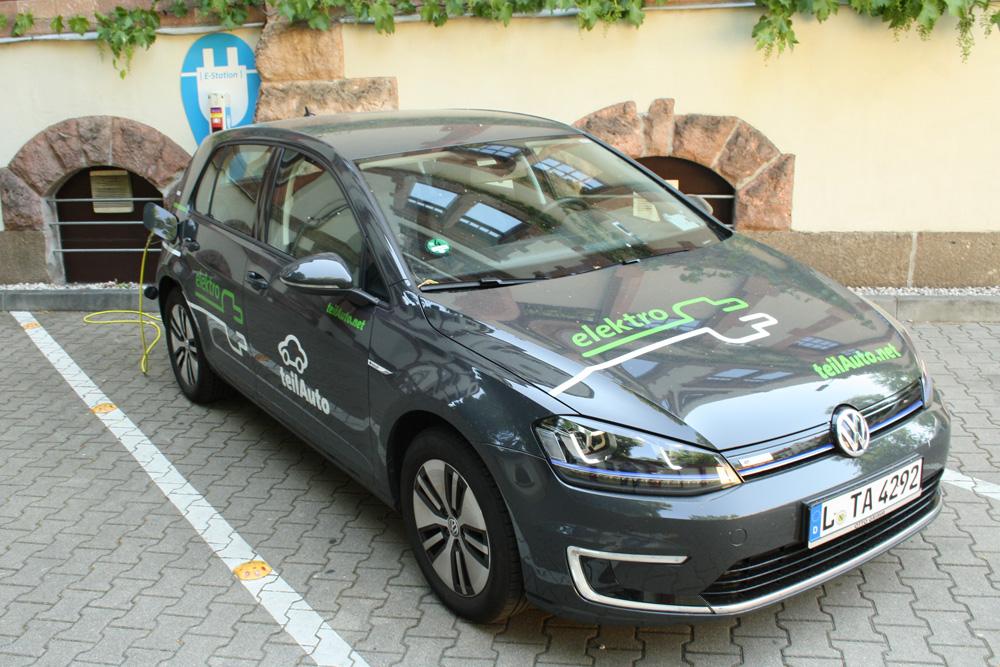 Auch Teilauto ist in Leipzig schon mit E-Auto unterwegs. Foto: Ralf Julke