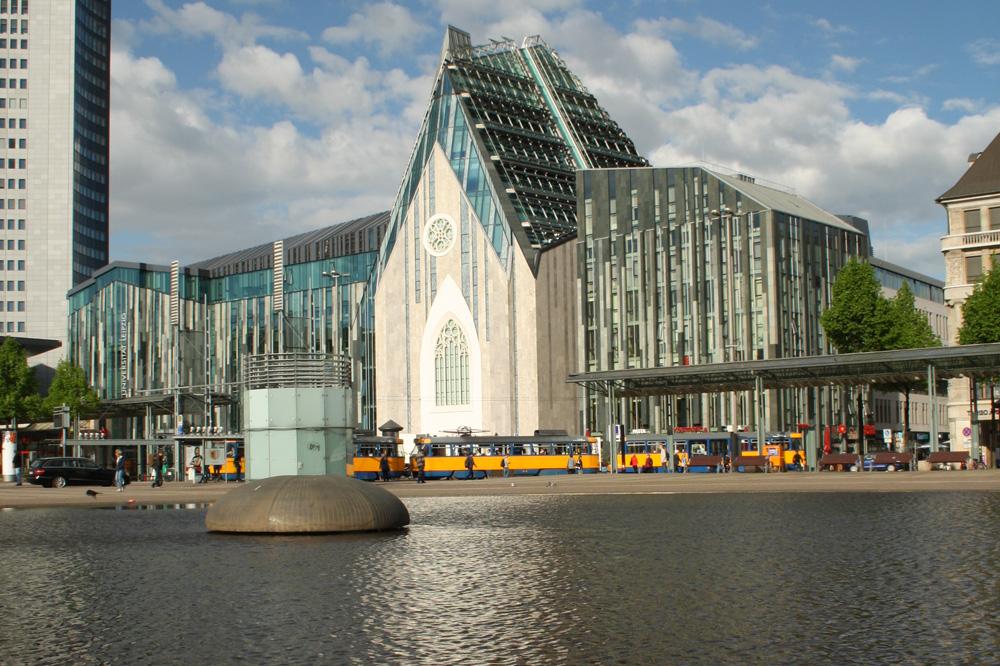 Campus der Universität Leipzig am Augustusplatz. Foto: Ralf Julke