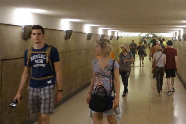 In der Unterführung zum Arc de Triomphe. Foto: Patrick Kulow