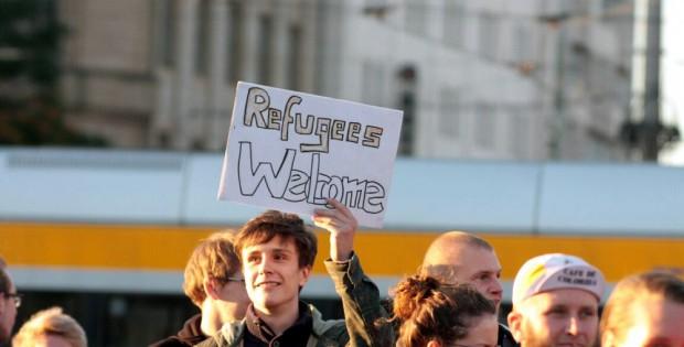 Refugees Welcome. Foto: L-IZ.de