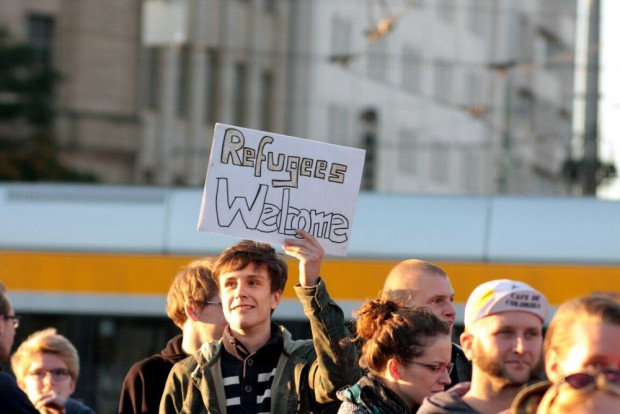 Refugees Welcome. Foto: L-IZ.de
