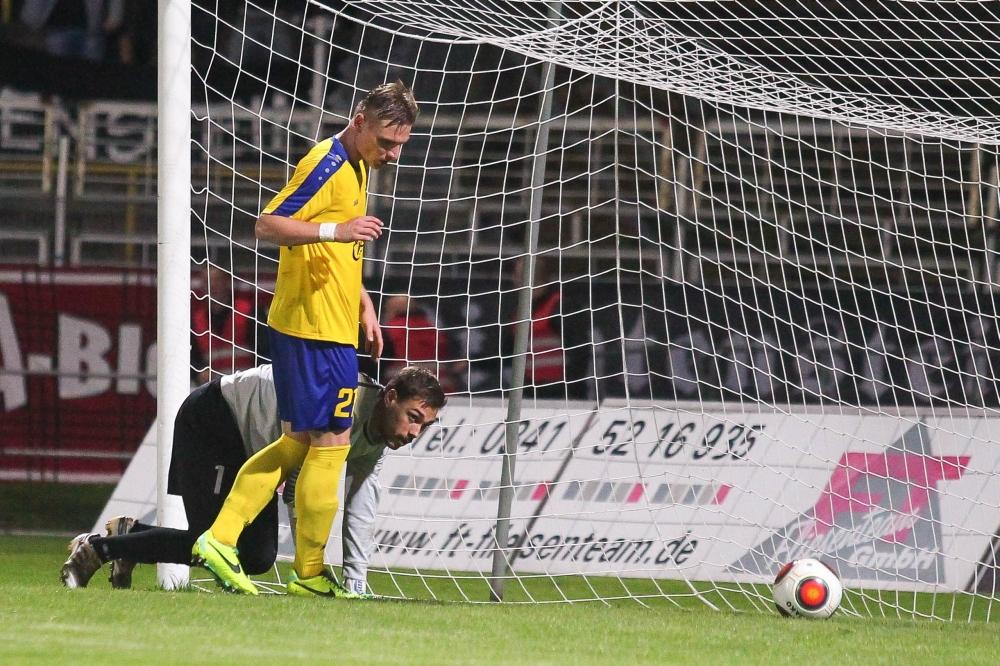 Erst in der Verlängerung fiel der einzige Treffer des Spiels. Foto: Jan Kaefer