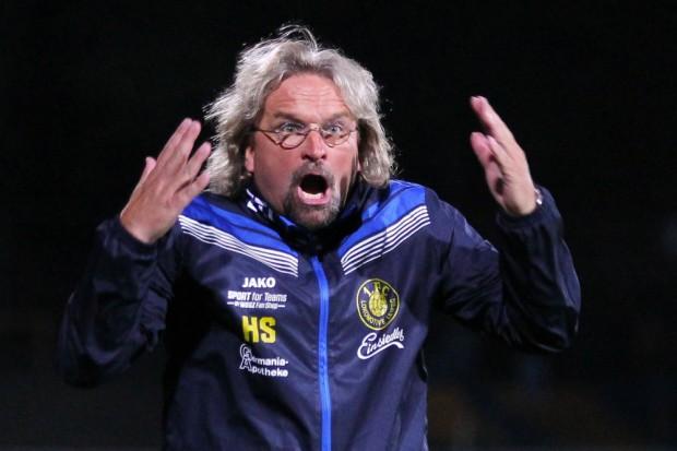 Trainer Heiko Scholz litt am Spielfeldrand mit seinem Team mit. Foto: Jan Kaefer (Archiv)