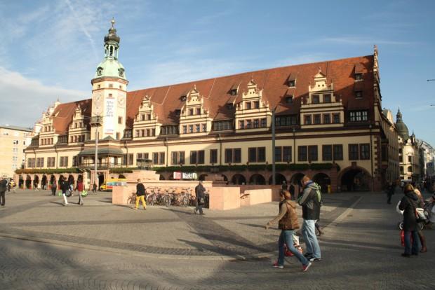 Hingucker: Leipzigs Altes Rathaus. Foto: Ralf Julke