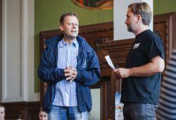 Torsten Bonew und Corwin von Kuhwede. Foto: ABGedreht productions