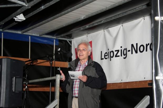 Christian Wolff am Weltfriedenstag. Foto: Alexander Böhm