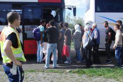 Ankunft von Flüchtlingen in Leipzig. Foto: René Loch