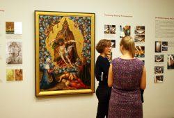 """Ein Jahr lang aufwendig im Museum der bildenden Kunst restauriert: """"Die Dreifaltigkeit"""" von Lucas Cranach d. Ä. Foto: Ralf Julke"""