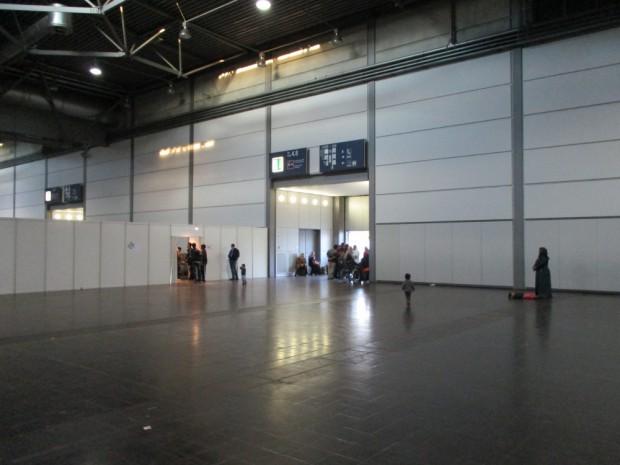 """Die Messehalle von Innen. Quelle: """"Initiativkreis: Menschen.Würdig."""""""
