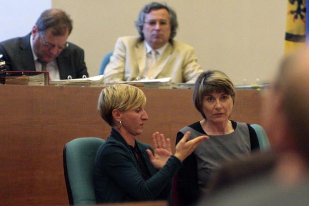 Gebärdendolmetscherinnen im Stadtrat. Foto: Alexander Böhm