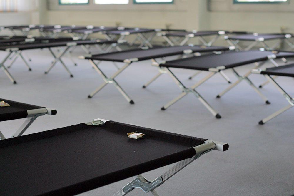 Ziemlich karge Lebensbedingungen erwarten Flüchtlinge in den sächsischen Erstaufnahmeeinrichtungen. Foto: Sebastian Beyer