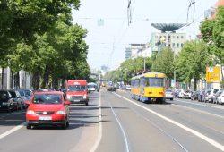 Wirklich voller sind die Straßen in Leipzig - wie hier die KarLi - nicht geworden. Foto: Ralf Julke