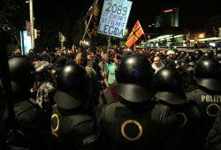 Woche für Woche bei Demonstrationen unterwegs - Polizei am 14. September in Leipzig. Foto: L-IZ.de