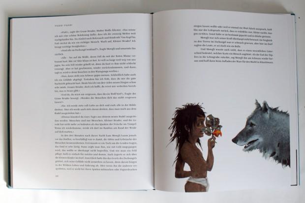 lllustration von Aljoscha Blau: Mowgli und Grauer Bruder. Foto: Ralf Julke