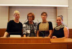 Rednerinnen der Bildungspolitische Stunde v.l.n.r. Saskia Schuppener, Elke Donnert, Heike Händel, Beatrice Uhle. Foto: Alexander Böhm