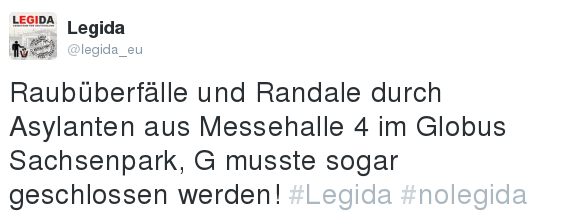 LEGIDA e.V. in seinem Element. Quelle: Twitter