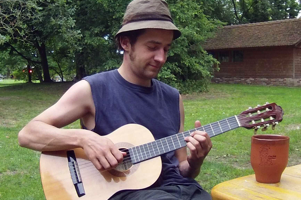 Wusel, der Gitarrenschrubber von Amped. Foto: privat