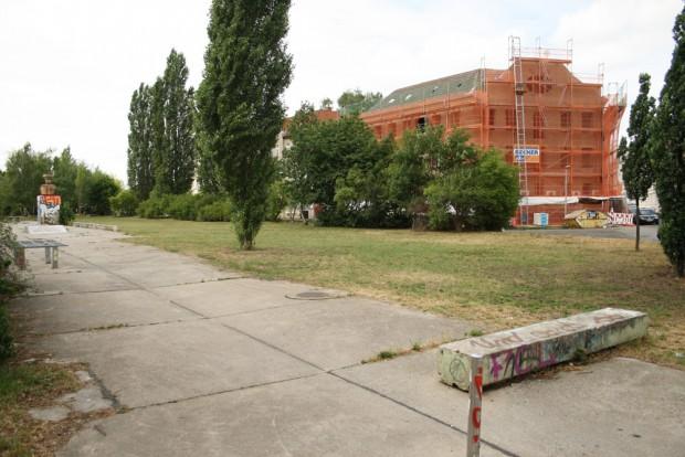 Die Brachfläche an der Rolf-Axen-Straße. Foto: Ralf Julke