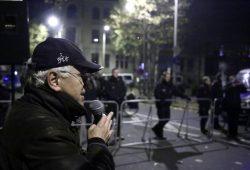 Christian Wolff auf einer Kundgebung. Foto: L-IZ.de