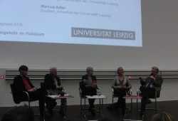 Donnerstagsdiskurs an der Uni Leipzig zum Thema Flüchtlinge. Foto: René Loch